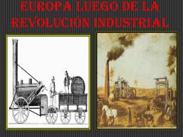 EUROPA LUEGO DE LA REVOLUCIÓN INDUSTRIAL