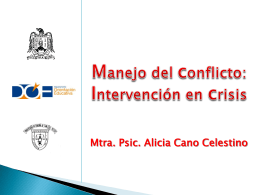 manejo del conflilcto- intervención en crisis 1/2