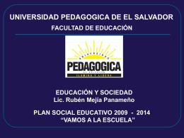 Plan Social Educativo Vamos a la Escuela 2009