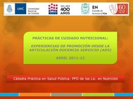 Prácticas de Cuidado Nutricional