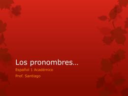 Los pronombres*