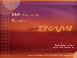 10.- ENAMI y su rol de Fomento