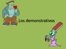 PPT Los Demonstrativos