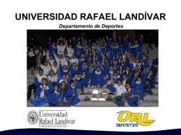 Diapositiva 1 - Universidad Rafael Landívar