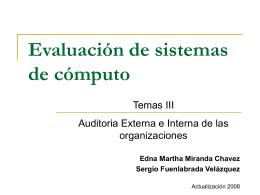 3. Auditoría Externa e Interna