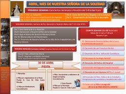 Abril, mes de Nuestra Señora de la Soledad