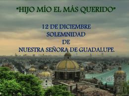 Presentacion de la Virgen de Guadalupe
