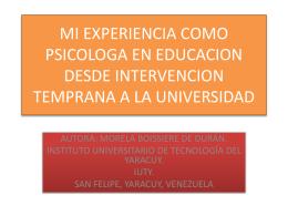 Mi experiencia como psicóloga en educación desde