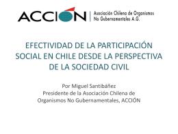 efectividad de la participación social en chile desde la