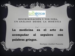 discriminación y vih/sida, un análisis desde la bioética