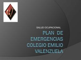ver plan de emergencias - colegio emilio valenzuela