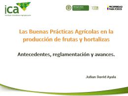 Las Buenas Prácticas Agrícolas en la Producción de Frutas y