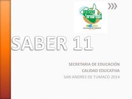 SABER 11 - Secretaria de Educación