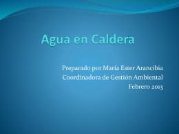 Agua en Caldera