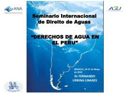 Naturaleza jurídica del agua en PERU