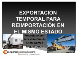 exportacion temporal para reimportacion en el mismo estado