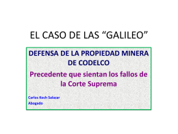 El caso de las Galileo - Carlos Koch Salazar