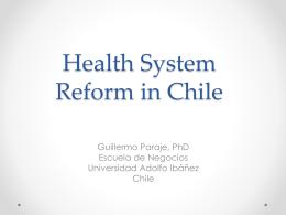 Economía de la Salud y Políticas Públicas: El caso chileno