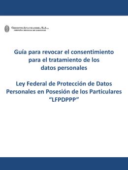 Guía para revocar el consentimiento para el tratamiento de los datos