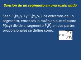 G analitica 7 div segmento en una razon