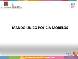 modelo de Policía Estatal Acreditable con Mando Único