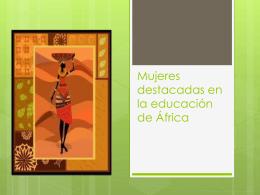 Mujeres destacadas de África