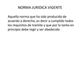 NORMA JURIDICA VIGENTE
