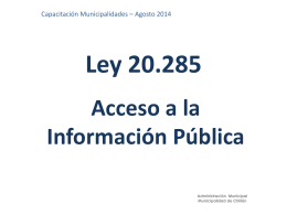 Transparencia activa - Ilustre Municipalidad de Chillán