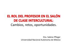 EL ROL DEL PROFESOR EN EL SALÓN DE CLASE