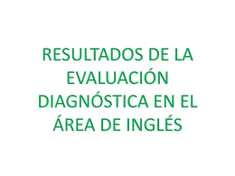 DIAGNOSTICO INGLES 2°