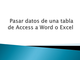Pasar datos de una tabla de access a word