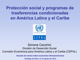 Protección social - Comisión Económica para América Latina y el