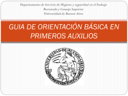 GUIA DE PRIMEROS AUXILIOS - Universidad de Buenos Aires