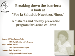 Breaking down the barriers: a look at *Por la Salud de Nuestros Ninos*