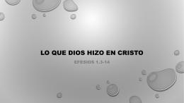 LO QUE DIOS HIZO EN CRISTO por León