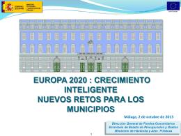 C.I. Nuevos retos para los municipios