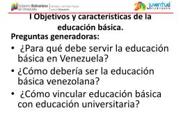 I Objetivos y características de la educación básica.