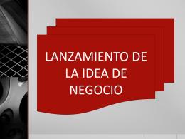 lanzamiento de una idea de negocio