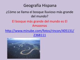 Geografía Hispana