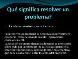 Qué significa resolver un problema?