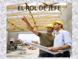 EL ROL DE JEFE