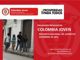 Colombia Joven: Encuesta Nacional de Juventud 2013