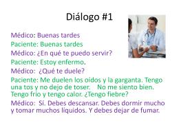 Dialogos doctor y paciente 2