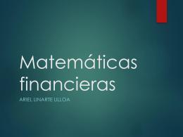 Descuento simple - Msc. Ariel Linarte