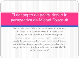 El concepto de poder desde la perspectiva de Michel Foucault