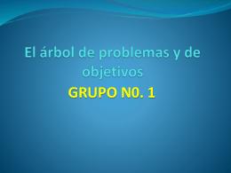 Árbol de problemas y objetivos GRUPO No 1