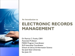 Electronic Records Management Presentation