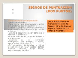 SIGNOS DE PUNTUACIÓN (EL PUNTO)
