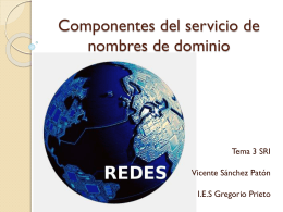 Componentes del servicio de nombre de dominios
