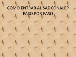 COMO ENTRAR AL SAE CONALEP PASO POR PASO